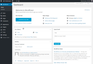 Dashboard - Installing WordPress on Ubuntu