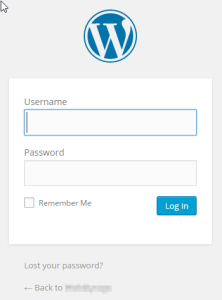Log In - Installing WordPress on Ubuntu